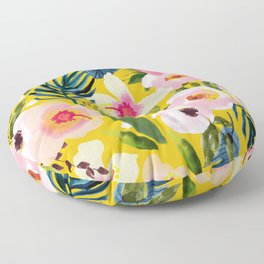 No Winter Lasts Forever; No Spring Skips It's Turn #painting #botanical Floor Pillow