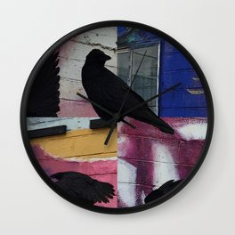 Raven in the City Wall Clock