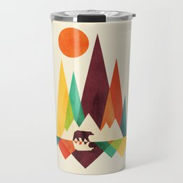 Bear In Whimsical Wild Travel Mug