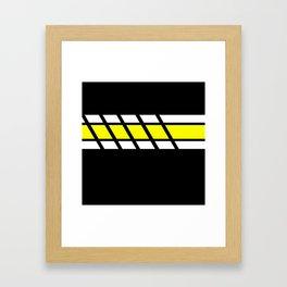Team Colors 4...yellow Framed Art Print