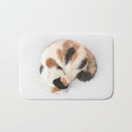 Sleeping Calico Cat Bath Mat