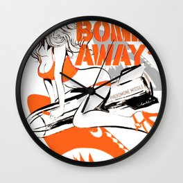 CHERRY BOMBS AWAY PIN-UP GIRL Wall Clock