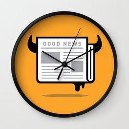 Good News For People Who Love Bad News Wall Clock