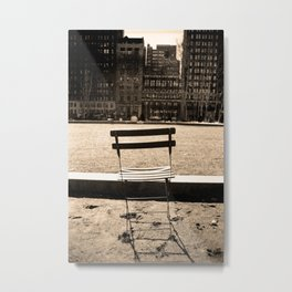 Chair in Bryant Park Metal Print