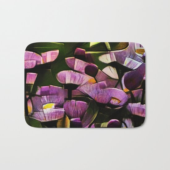 Abstract Wldflowers Bath Mat