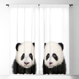 Baby Panda, Baby Animals Art Print By Synplus Blackout Curtain