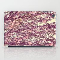 sofa iPad Cases featuring floral sofa by vibeyantlers
