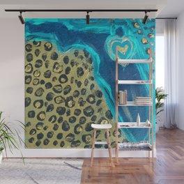 Florida Teal Love Wall Mural