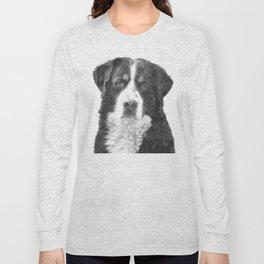 Black and White Bernese Mountain Dog Long Sleeve T-shirt