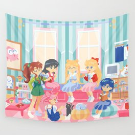 Casual sailor scouts Wall Tapestry