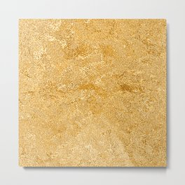 Shiny Textured Gold Foil Metal Print