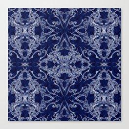 Victorian Era royal blue Canvas Print