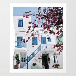 Mykonos town Art Print