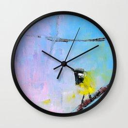 White Eared Honey Eater Wall Clock