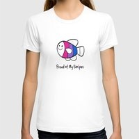 bisexual T-shirts featuring Bisexual Pride (Proud of My Stripes) by Kylie Summer Wu