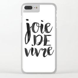 JOIE DE VIVRE, French Quote,French Poster,French Decor,French Saying,Quote Prints,Typography Poster, Clear iPhone Case