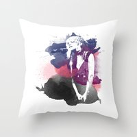 stevie nicks Throw Pillows featuring Stevie Nicks by 2b2dornot2b
