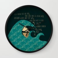 pilot Wall Clocks featuring PILOT ME by Rebecca Allen