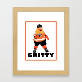 Gritty the new mascot of the Flyers in Philadelphia Framed Art Print