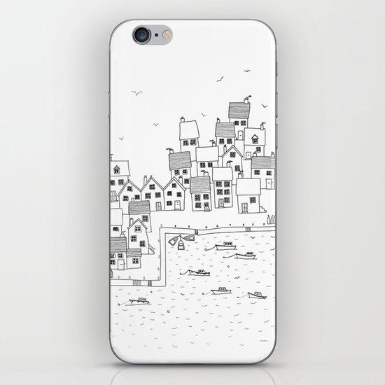 Harbour sketch iPhone & iPod Skin