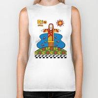 rio Biker Tanks featuring Cristo Rio by Monica Fuchshuber