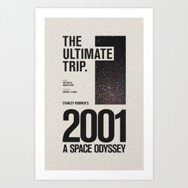 2001: A Space Odyssey Movie Poster Art Print
