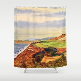 Pacific Dunes - On Bandon Dunes - Golf Course 13th Hole Shower Curtain