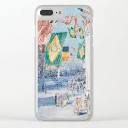 Avenue of the Allies by Childe Hassam, 1918 Clear iPhone Case