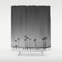 Palm Tree Beach Shower Curtain