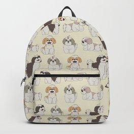 Cute Shih Tzu Dog Pattern Backpack
