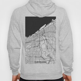 Cleveland Map Gray Hoody