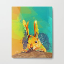 Tassel-eared Squirrel Metal Print