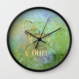 The Spring Court Wall Clock