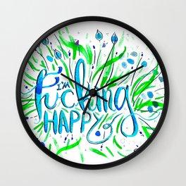 I'm Fucking Happy Wall Clock