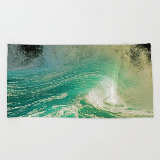 WAVE JOY Beach Towel