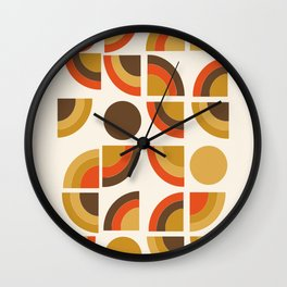 Kosher - retro throwback minimalist 70s abstract 1970s style trend Wall Clock