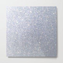 Silver Metallic Sparkly Glitter Metal Print