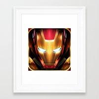 iron man Framed Art Prints featuring IRON MAN IRON MAN by Smart Friend