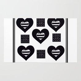 Love Black and White Rug