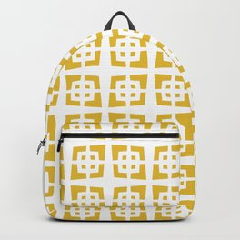 Mid Century Modern Pattern 272 Mustard Yellow Backpack