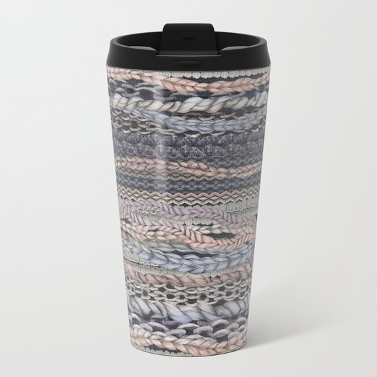 Romantic Stitches Metal Travel Mug