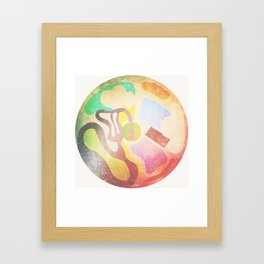 Circle Mess (or Aerial Waterpark) Framed Art Print