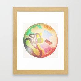 Circle Mess (or Aerial Waterpark) Framed Art Print