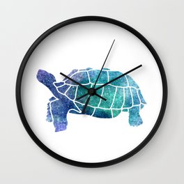 Sulcata Tortoise Silhouette (sparkles) Wall Clock