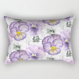 Pansy pattern Rectangular Pillow