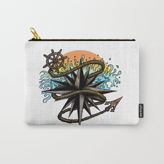 Nautical Splash Carry-All Pouch