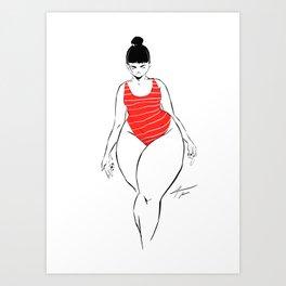 WOMAN 62 Art Print