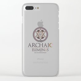 Archaic Elements 2 Clear iPhone Case