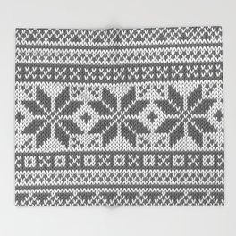 Winter knitted pattern4 Throw Blanket