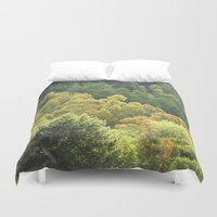 forrest Duvet Covers featuring Forrest Green by Bizzack Photography